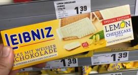 Bahlsen Leibniz Lemon Cheesecake Style mit weißer Schokolade