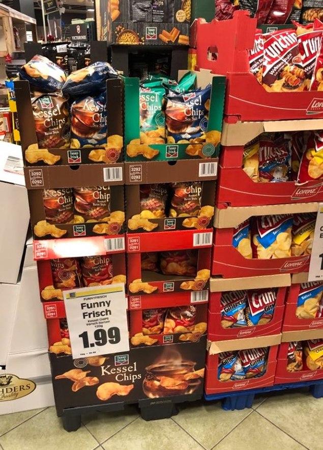 FunnyFrisch Kessel-Chips POS-Display