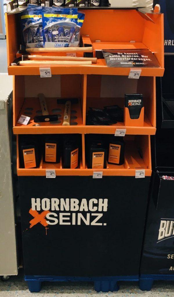 Hornbach Seinz im dm-Markt POS-Display