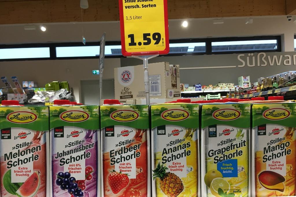 Lausitzer Stille Schorle Melone-Johannesbeer-Erdbeere-Ananas-Grapefruit-Mango
