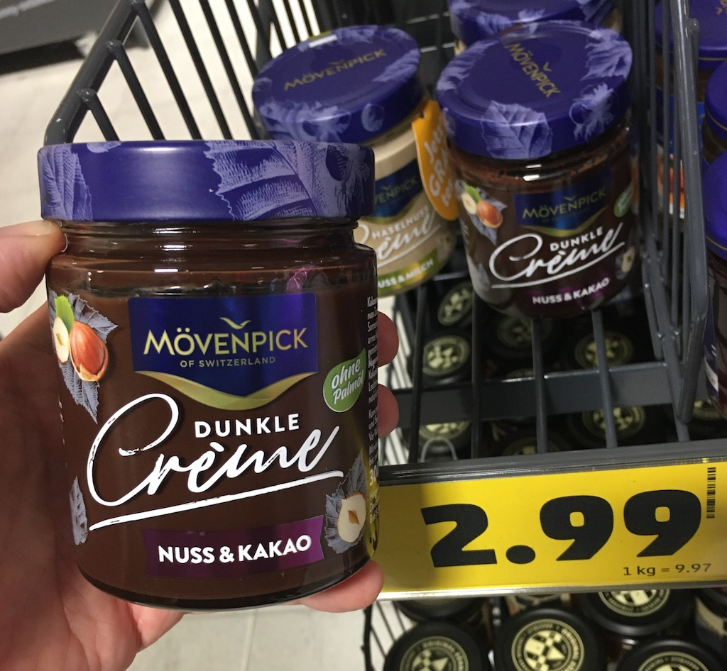 Mövenpick Dunkle Creme Nuss+Kakao ohne Palmöl