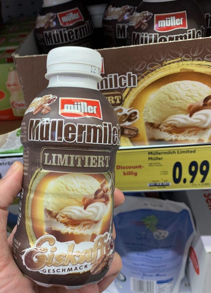 Müllermilch Limitiert Eiskaffee-Geschmack