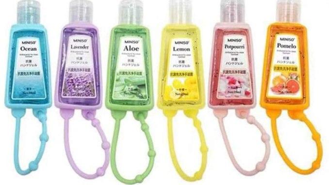 Miniso Hand Sanitizer mit Henkel Ocean-Lavendel-Aloe-Lemon-Potpourri-Pomelo