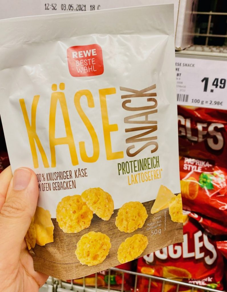 REWE Beste Wahl KäseSnack Proteinreich Laktosefrei 50G