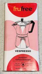 frufree Vespresso Zartbitter-Kaffeeschokolade ohne Fruktose und Laktose