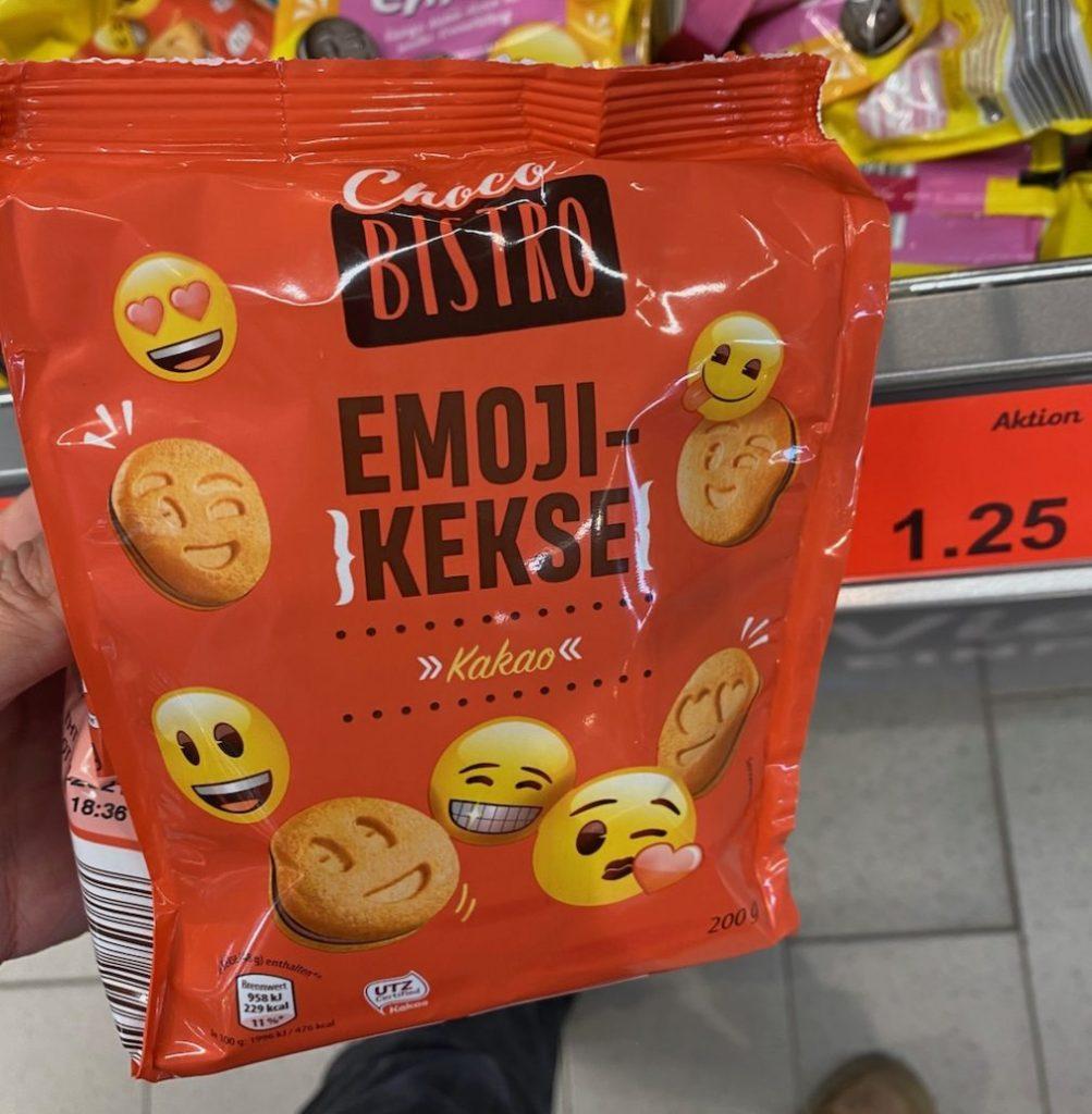 Aldi Choco Bisro Emoji-Kekse Kakao 200g