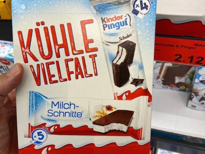 Aldi Ferrero Kinder Pingui und Milchschnitte Kühle Vielfalt 9er