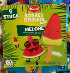 Aldi Mucci Sorbet Stieleis Mini Melone 6er 240ml
