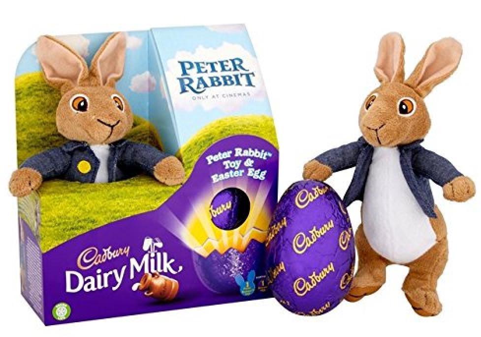 Cadbury Peter Rabbit Schokoei mit Osterhasen-Stofftier 72g