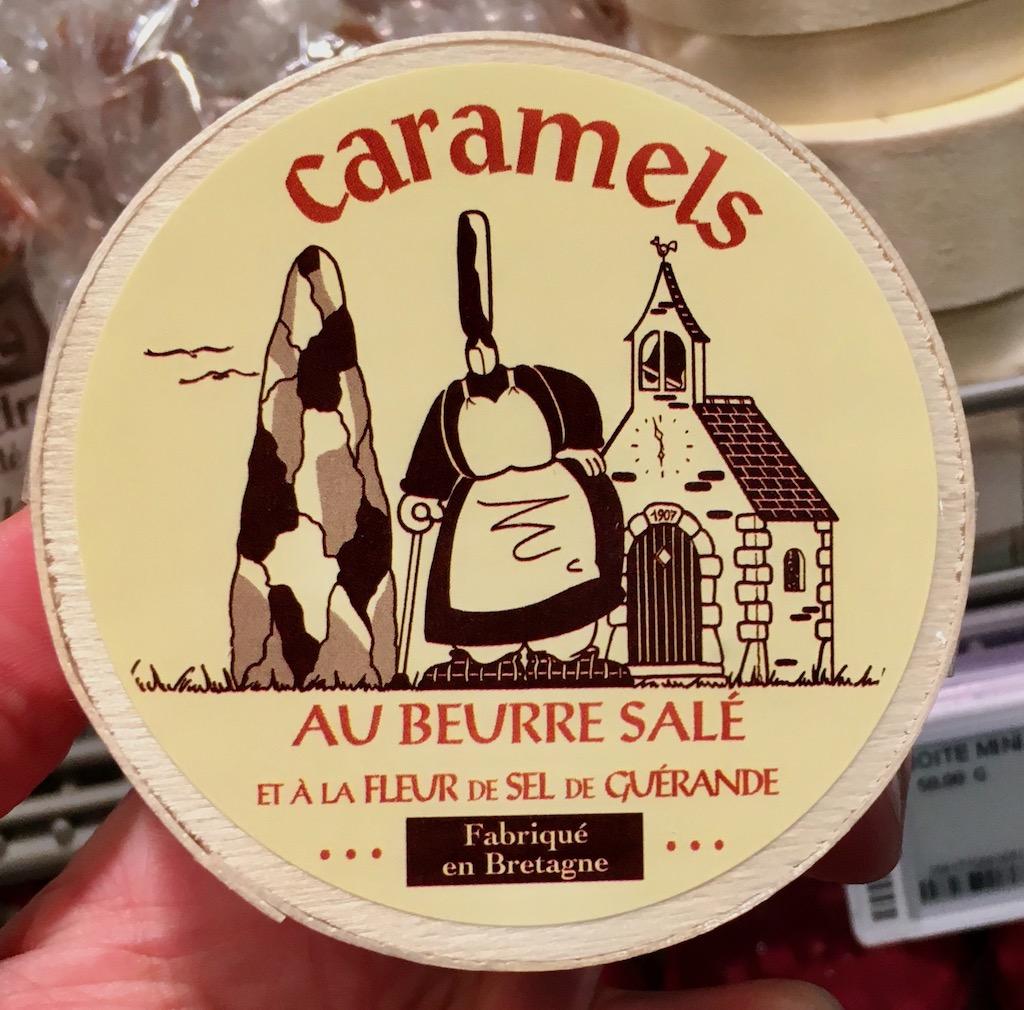 Caramels au beurre salé et a lafleur de sel de Guerande Fabriqué en Bretagne Runddose Karamell-Bonbons