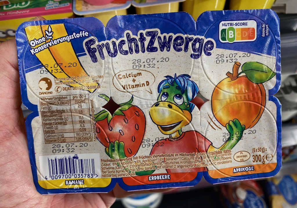 Danone FruchtZwerge 6er Nutri-Score