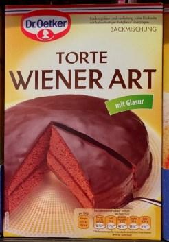 Dr. Oetker Torte Wiener Art mit Glasur Backmischung