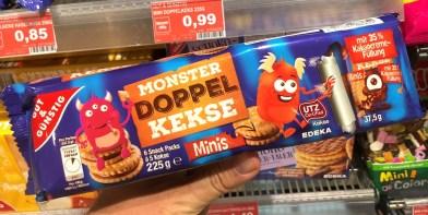 EDEKA Gut+Günstig Monster Doppelkekse Mini 225G 6er Pack