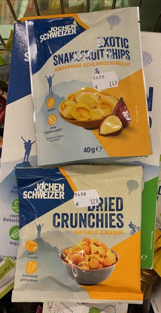 Jochen Schweizer Exotic Snakefruit Chips 40G-Dried Crunchies Physalis+Mango