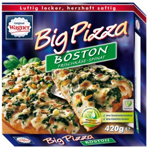 Wagner Big Pizza Boston alte Verpackung