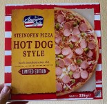 Netto American Style Steinofen Pizza Hot Dog Style Limited Edition 335G