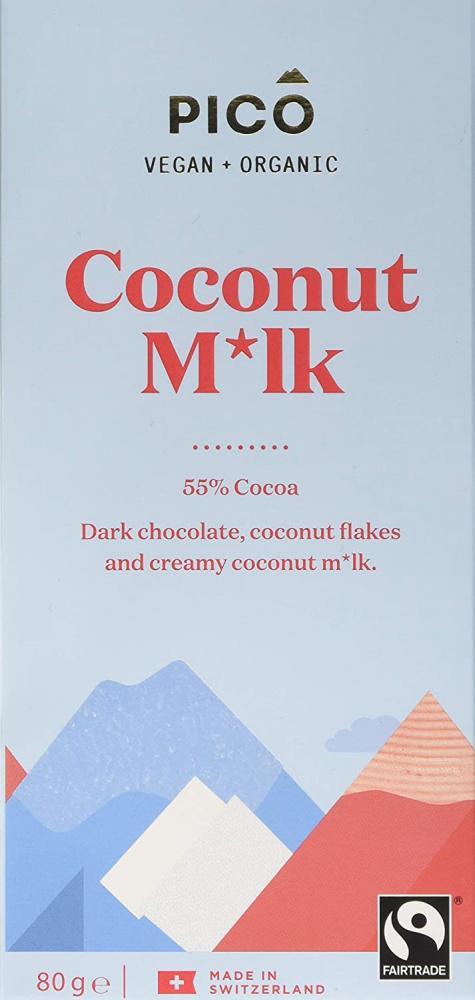 Pico Coconut Mik Organic Vegan Chocolate 80g
