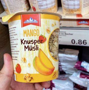 Aldi Gletscherkrone Mango Knusper Müsli Einzelportion To Go