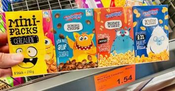 Aldi Knusperone Minipacks Cerealien Monsterfiguren-Motiv