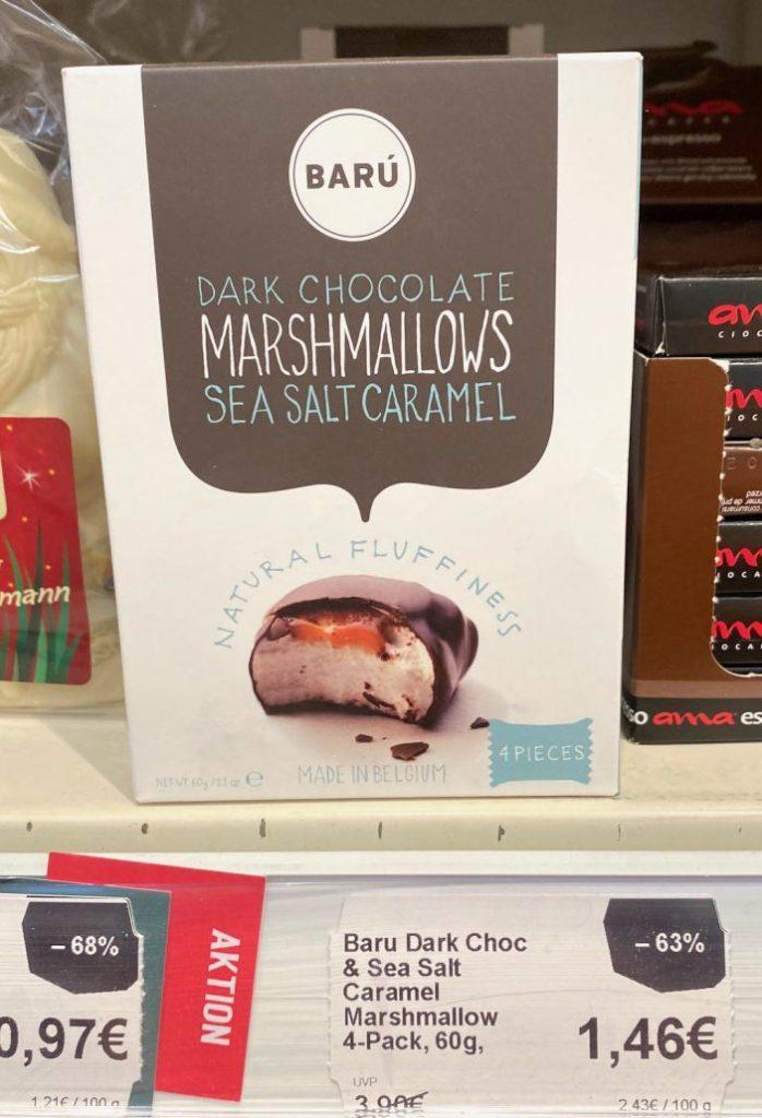 Barú Dark Chocolate Marshmallows Sea Salt Caramel 4er 60G