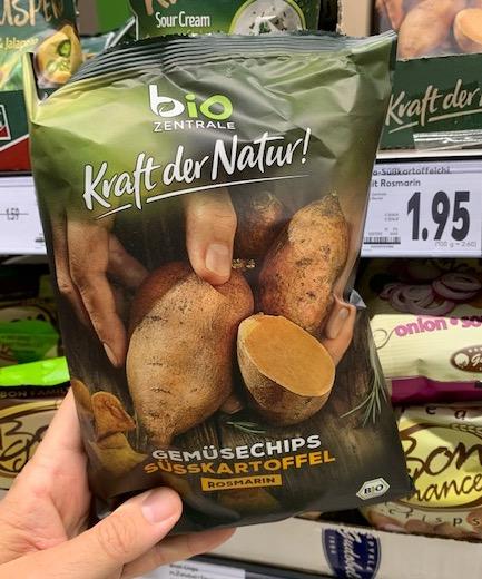 Bio Zentrale Kraft der Natur Gemüsechips Süßkartoffel Rosmarin