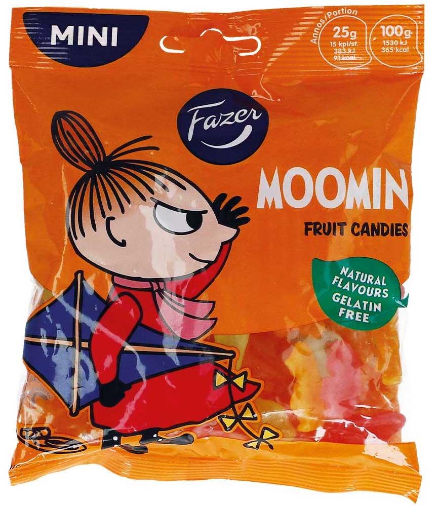 Fazer Moomin Fruit Candies Fruchtgummi 80g