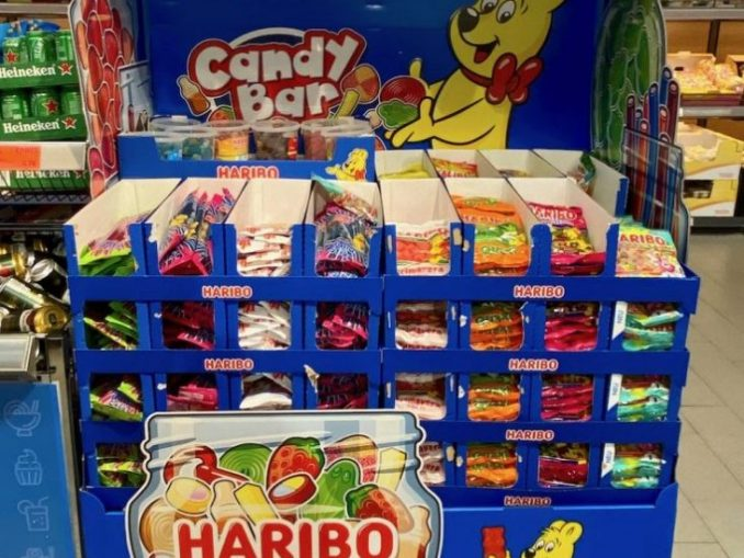 Haribo Candybar Bodenaufsteller Europalette Sommer 2020