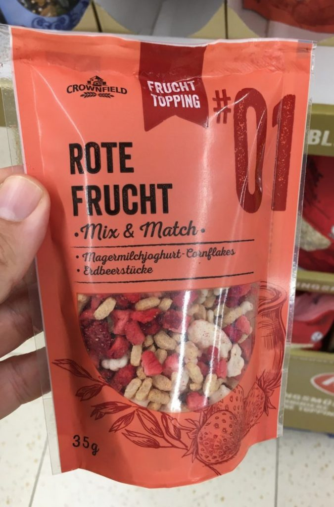 Lidl Crownfield Fruchttopping Rote Frucht 35G