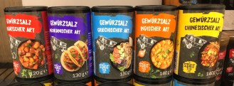 Lidl My Street Food Gewürzsalze Ungarisch-Mexikanisch-Griechisch-Indisch-Chinesisch-Street Food Truck-Motiv