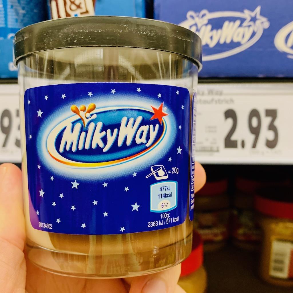 Mars Milky Way Brotaufstrich im Glas