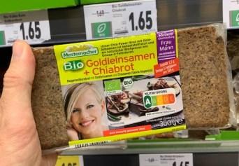 Mestemacher Bio Goldleinsamen- Chiabrot 350G Nutri-Score