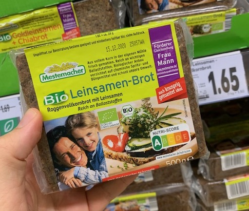 Mestemacher Bio Leinsamen-Brot Roggenvollkorn 500G Nutri-Score