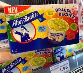 Ahoj-Brause Eiskrem Brausebecher Waldmeister-Himeere-Zitrone-Brause-Perlen 2er