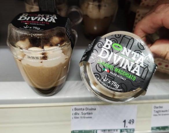 Bonta Divina Caramel Macchiato 75G Gekühltes Dessert im Glas