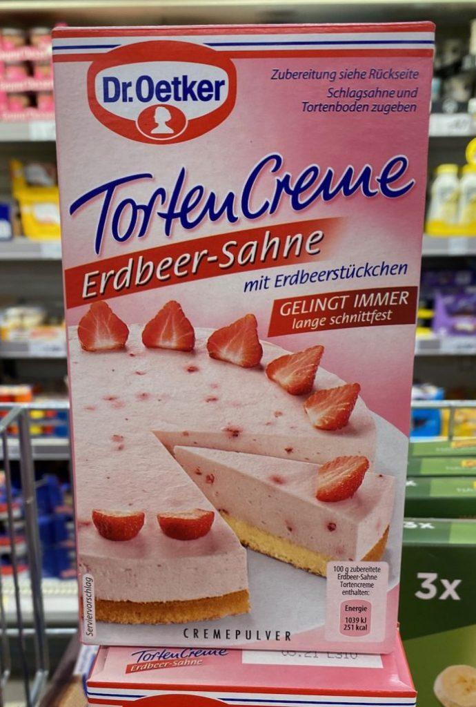 Dr Oetker TortenCreme Erdbeer-Sahne