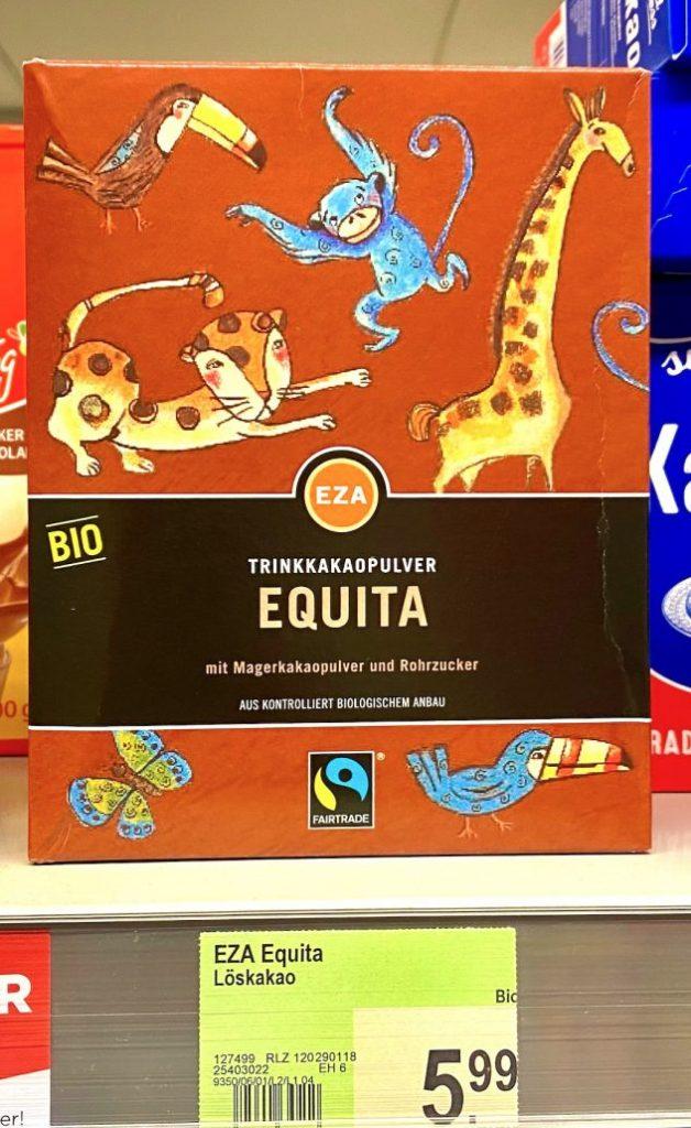 EZA Bio-Trinkkakaopulver Equita Fairtrade Löskakao