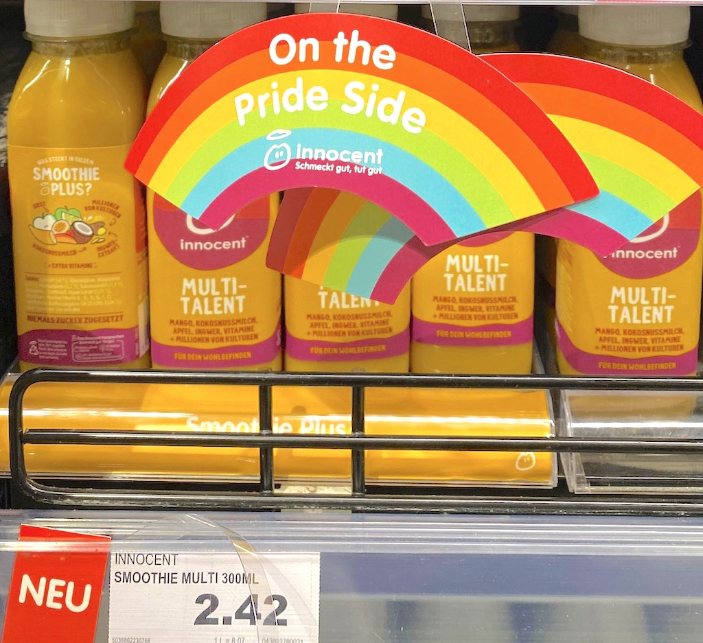 Innocent Smoothie Multitalent mit Pride-Regenbogen