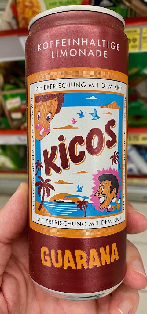 Kicos Guarana Koffeinhaltige Limonade Getränkedose