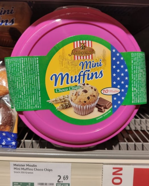 Meister Moulin Mini Muffins Choco Chips in der Brotdose 10er