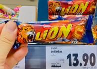 Nestlé Lion Bar in blauer Verpackung - gefunden in Tschechien.