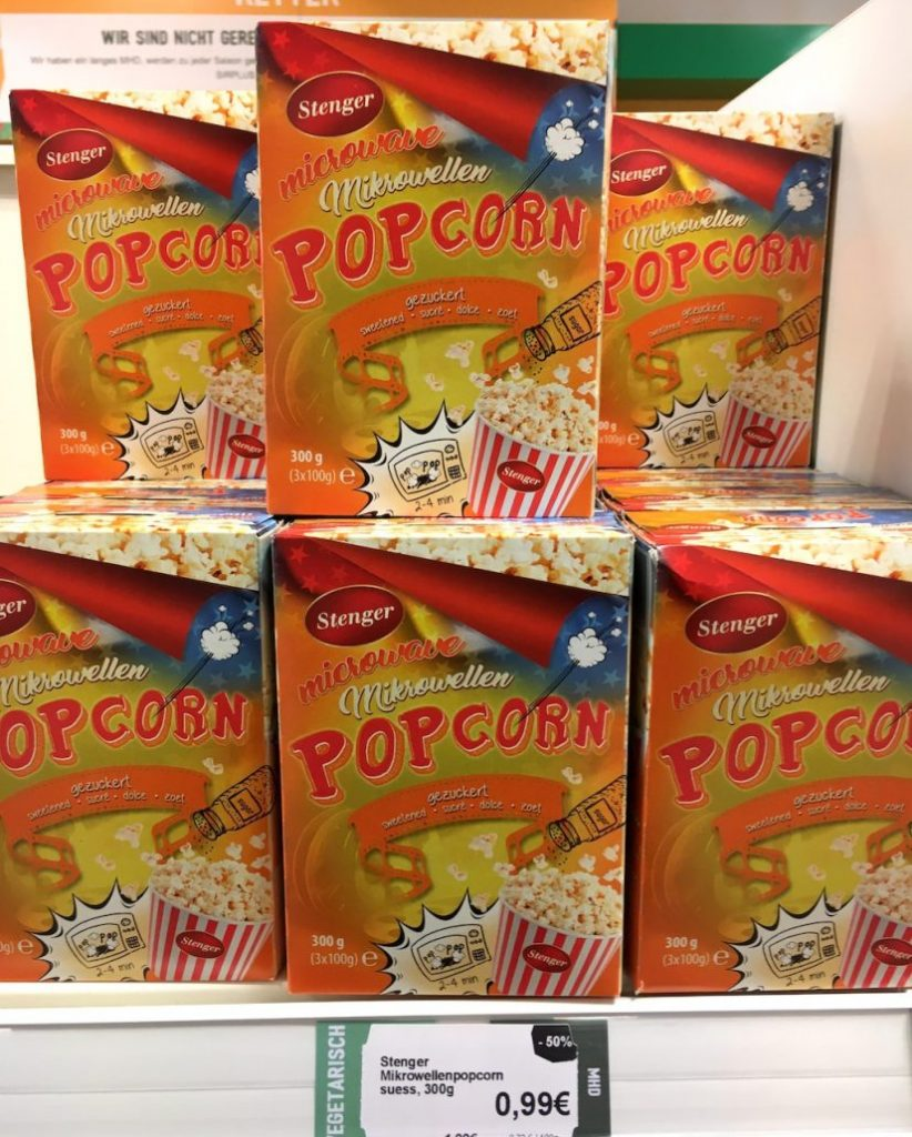 Stenger Mikrowellen-Popcorn gezuckert 300G