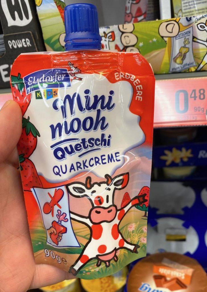 Elsdorfer Mini Mooh Quetschi Quarkcreme 90G Erdbeere