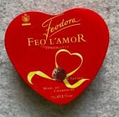 Feodora Feo L'Amor 6 Trüffel Marc de Champagne 72G Metalldose