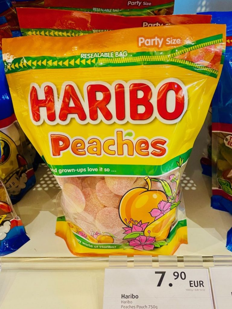 Haribo Peaches Travel Edition Duty Free 750G
