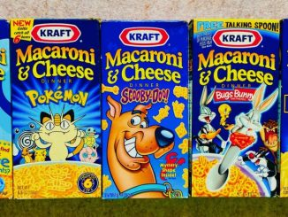Kraft Macaroni+Cheese Dinner Blue Paw Prints-Pokemon-Scooby-Dog-Bugs Bunny-Win Sports Star