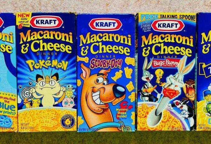 Kraft Macaroni+Cheese Dinner Blue Paw Prints-Pokemon-Scooby-Dog-Bugs Bunny-Win Sports Star