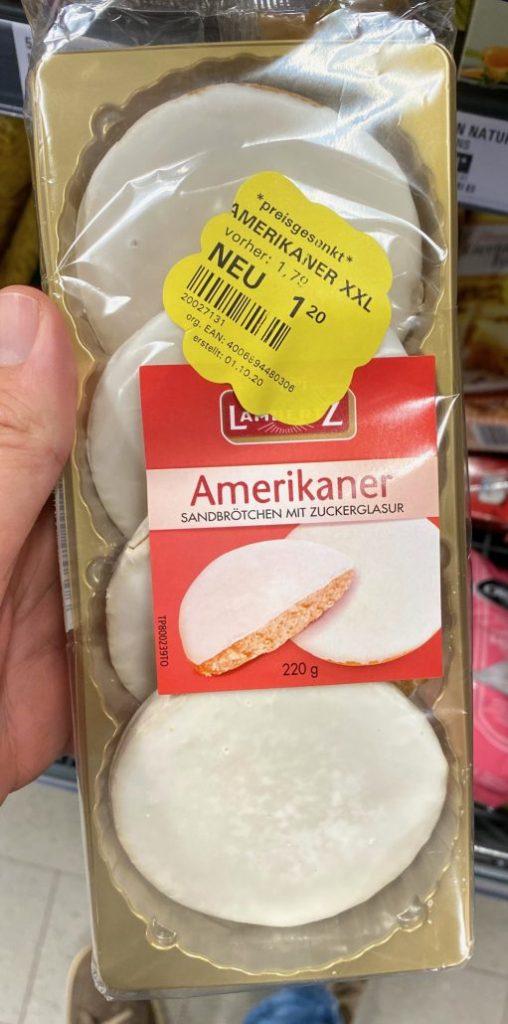 Lambertz Amerikaner Sandbrötchen mit Zuckerglasur 4er 220G