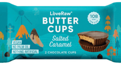 Love Raw Buttercups Salted Caramel 2 Chocolate Cups
