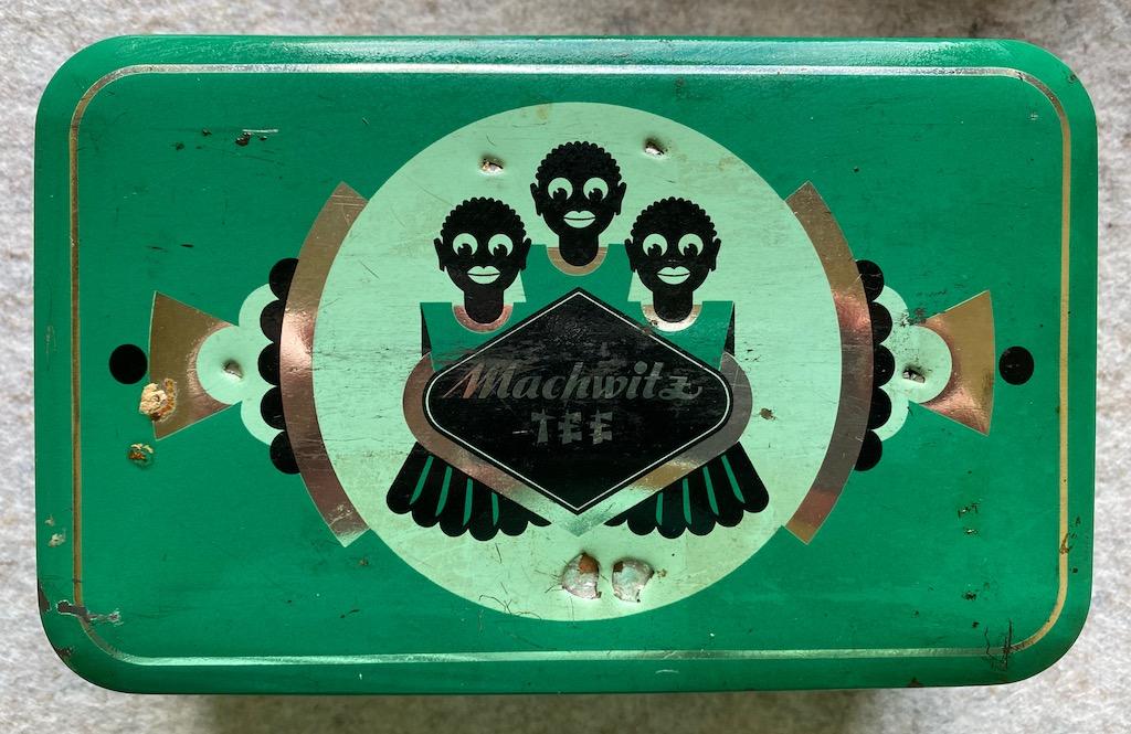 Machwitz Tee grüne Blechdose Asiatisches Motiv
