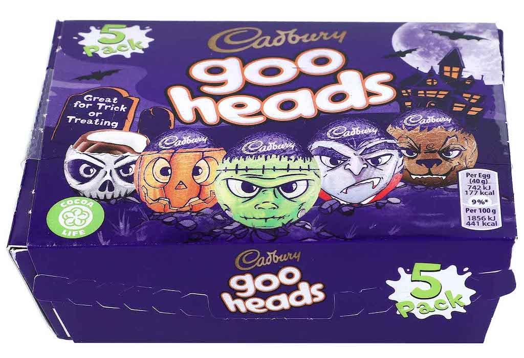 Mondelez Cadbury Goo heads Halloween 5er